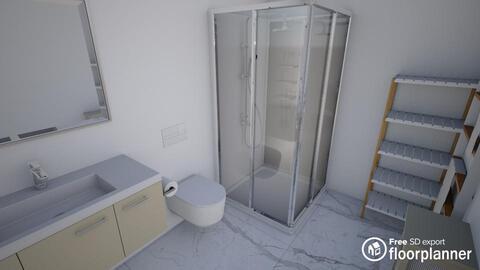 Modern Apartment Bathroom  ( White Contrast ) - by fp_99fb66bebcfc38dd