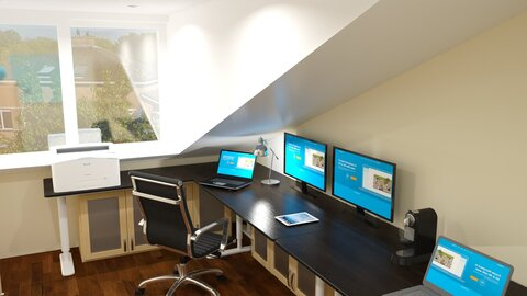 My home office - Modern - Office  - by fp_4d4293323425ceb0