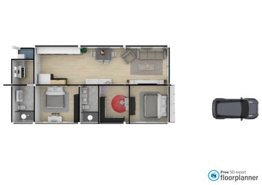 Project 3-  Nordic  2 bed - 2 restroom with Walk-in closet - by fp_bf5d8bef532cc5fb